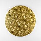"""18"""" Round Gold Foil Cake Drum"""