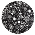 "12"" Black w/ White Flowers Cake Cardboards"