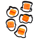 Halloween Faces Cookie Cutter and Stamp Set