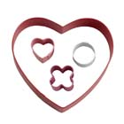 XO Heart Cookie Cutter Set