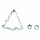 Large Christmas Tree Cookie Cutter Set