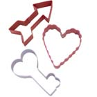 Valentine Arrow Cookie Cutter Set