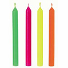 Round Neon Celebration Candles