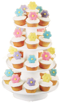 Plastic 4 Tier Dessert Tower (Holds 36)