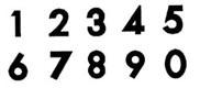Gumpaste/Fondant Cutters-JEM Numbers
