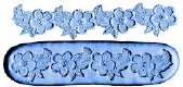 Flowers & Leaves Lace-Silicone Mold-Large