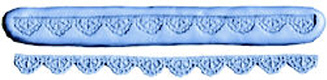Scalloped Border Lace-Silicone Mold-5/8""