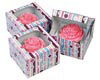 Bubble Stripe 1 ct. Cupcake Box with Window