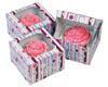Bubble Stripe 1 ct. Cupcake Box with Window