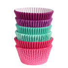 Pink, Turquoise, Purple Standard Baking Cups