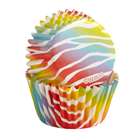 Zebra Bright Mini Baking Cups