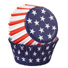Red, White, and Blue Standard Baking Cups