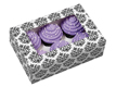 Black Damask 6 ct. Cupcake Box with Window