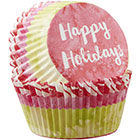 Happy Holidays Standard Baking Cups