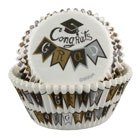 Graduation Baking Cups and Cupcake Wraps