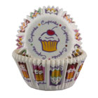 Cupcake Print Mini Muffin/Baking Cups