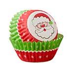 Santa Mini Baking Cups