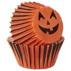 Jack-o-Lantern Mini Baking Cups