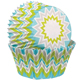 Lime Chevron Mini Baking Cups