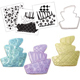 Topsy Turvy Wedding Cake Cookie Cutter Texture Set