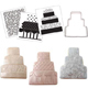 Traditional Wedding Cake Cookie Cutter Texture Set