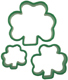 Nesting Shamrock Cookie Cutter Set