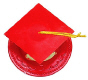 Graduation Hat-Red