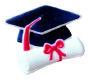 Dec-Ons® Molded Sugar - Cap w/ Diploma