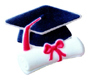 Dec-Ons® Molded Sugar - Cap w/ Diploma