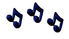 Dec-Ons® Molded Sugar - Black Music Notes