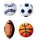 Dec-Ons® Molded Sugar - Sports Ball Assortment