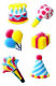 Dec-Ons® Molded Sugar - Mini Birthday Assortment