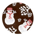 Chocolate Transfer Sheet- Snowman