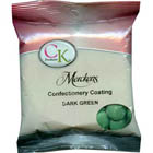 Merckens Dark Green Vanilla Flavored Candy Coating
