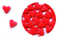 Red Hearts Edible Confetti Sprinkles