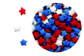Mini Red, White & Blue Stars Edible Confetti