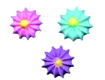Royal Icing Flowers - Star Assortment
