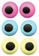 "Royal Icing Eyes - 1/4"" Assorted Colors"