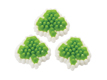 Mini Shamrocks Icing Decorations