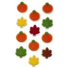 Mini Pumpkin and Leaf Icing Decorations