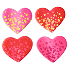 Bubble Heart Icing Decorations