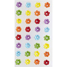 Mini Rainbow Daisy Royal Icing Decorations