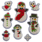 Snowman Family Icing Decorations