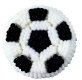 Soccer Ball Icing Decorations/Sugar Layon