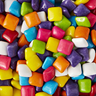 Rainbow Bubble Gum Squares
