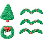 Tree and Wreath Icing Decorations
