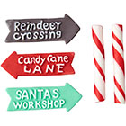 Candy Cane Pole Signs Icing Decorations