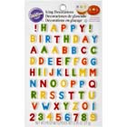 Alphabet and Number Icing Decorations