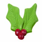 Holly Leaf Icing Decorations
