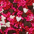 Chocolate Hearts Sprinkle Mix